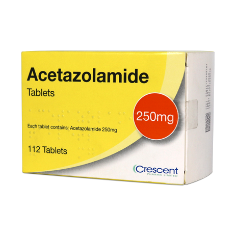 Acetazolamide 250mg Tablets 112s