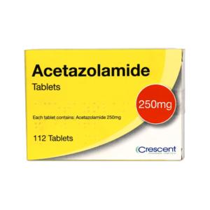 Acetazolamide 250mg Tablets 112s