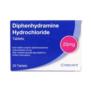 Diphenhydramine Hydrochloride 25mg Tablets