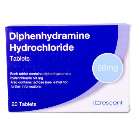 Diphenhydramine Hydrochloride 50mg Tablets