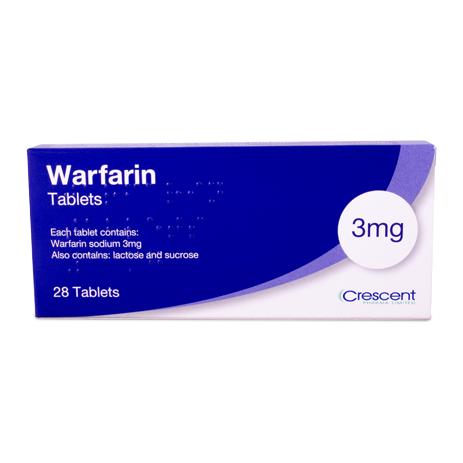 Warfarin 3mg Tablets