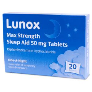 Lunox Max Strength Sleep Aid Tablets