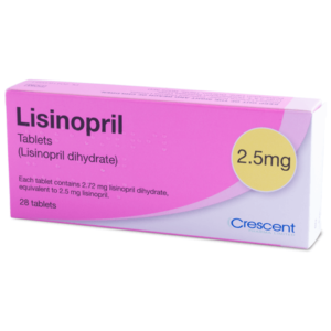 Lisinopril Tablets - 2.5mg