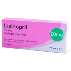 Lisinopril Tablets - 20mg
