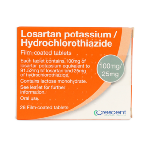 Losartan potassium/Hydrochlorothiazide 100mg/25mg Film-CoatedTablets