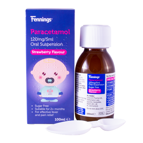 Fennings Paracetamol 120mg/5ml Oral Suspension 100ml
