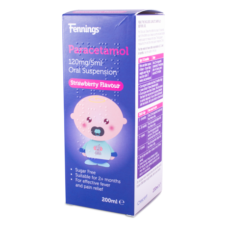 Fennings Paracetamol 120mg/5ml Oral Suspension 200ml