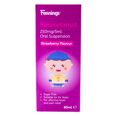 Fennings Paracetamol 250mg/5ml Oral Suspension 80ml