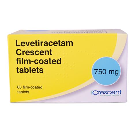Levetiracetam Crescent 750mg Film-coated Tablets