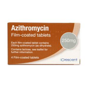 Azithromycin 250mg Film-coated tablets