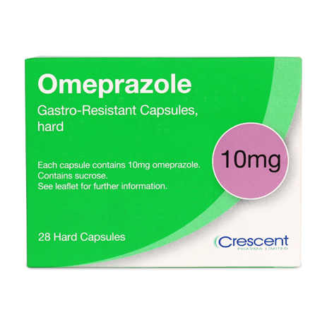 Omeprazole 10mg Capsules 28s